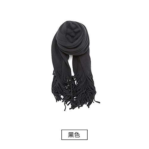 DIDIDD Scarf-ladies autumn winter thickening warm sweater knitted shawl scarf dual-use