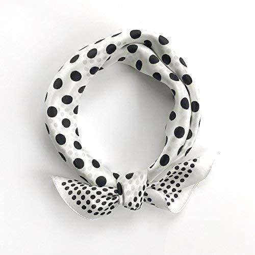 FLYRCX Ladies soft silk scarf satin silk scarf fashion printed hair 53cmx53cm