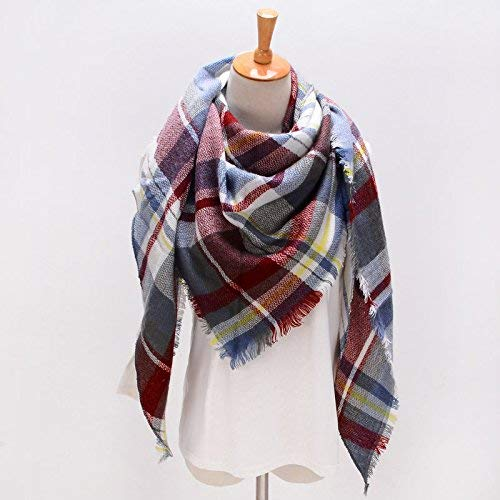 FLYRCX European style warm and thick triangular scarf for autumn and winter women like cashmere scarf shawl 190cmx140cm