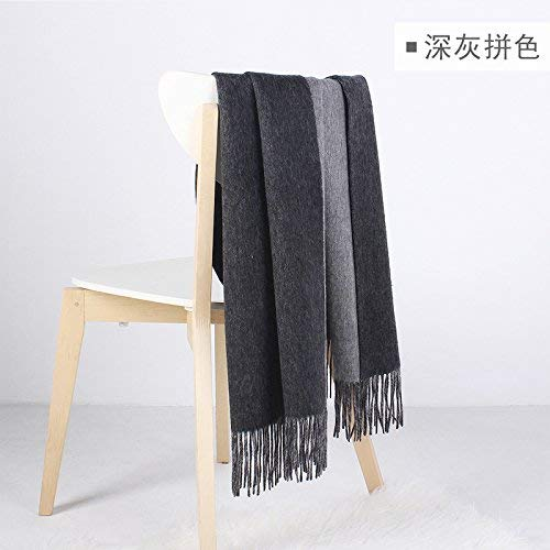 FLYRCX Warm and heavy woolen shawl ladies and men Winter Scarf 200cmx60cm